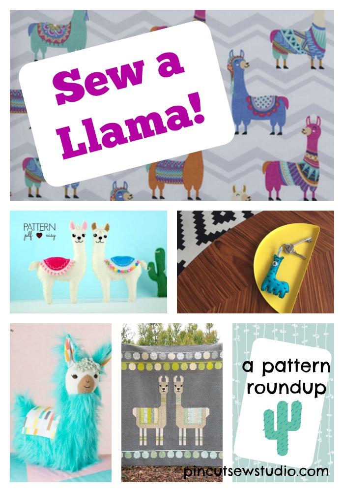Llama sewing pattern roundup on pincutsewstudio.com