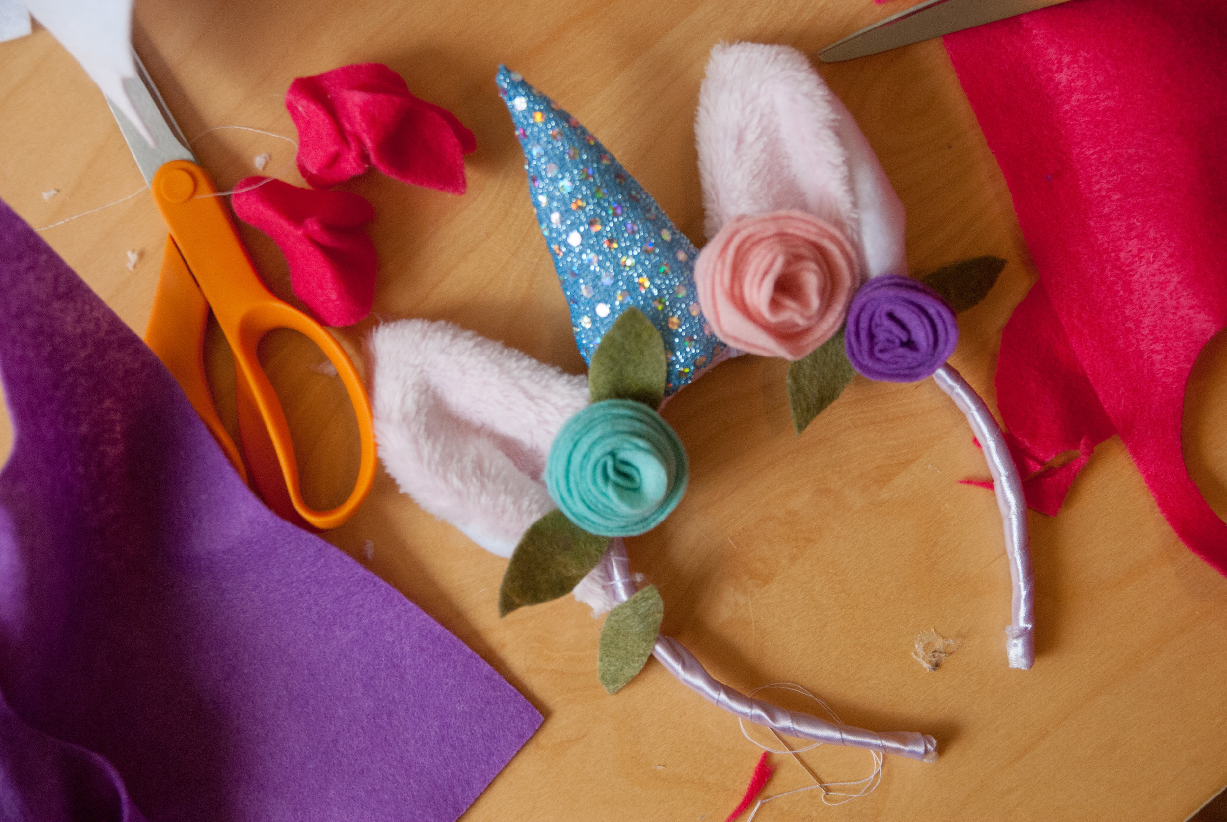 DIY Unicorn Headband free pattern and tutorial