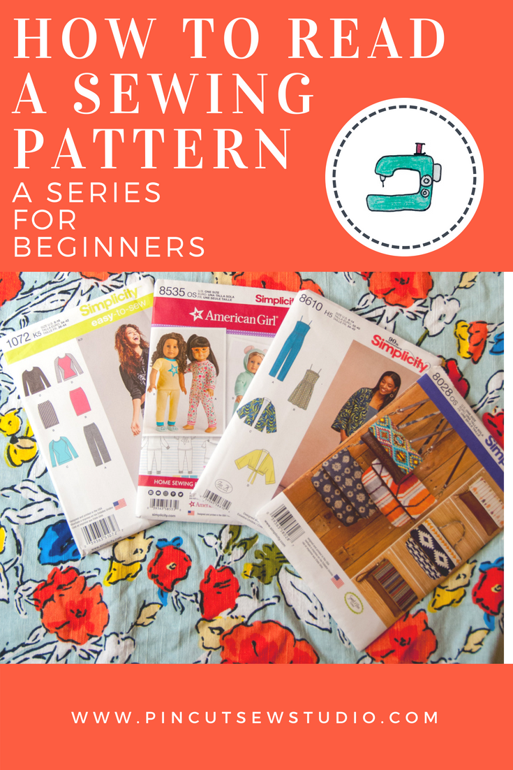 How to read a sewing pattern by www.pincutsewstudio.com
