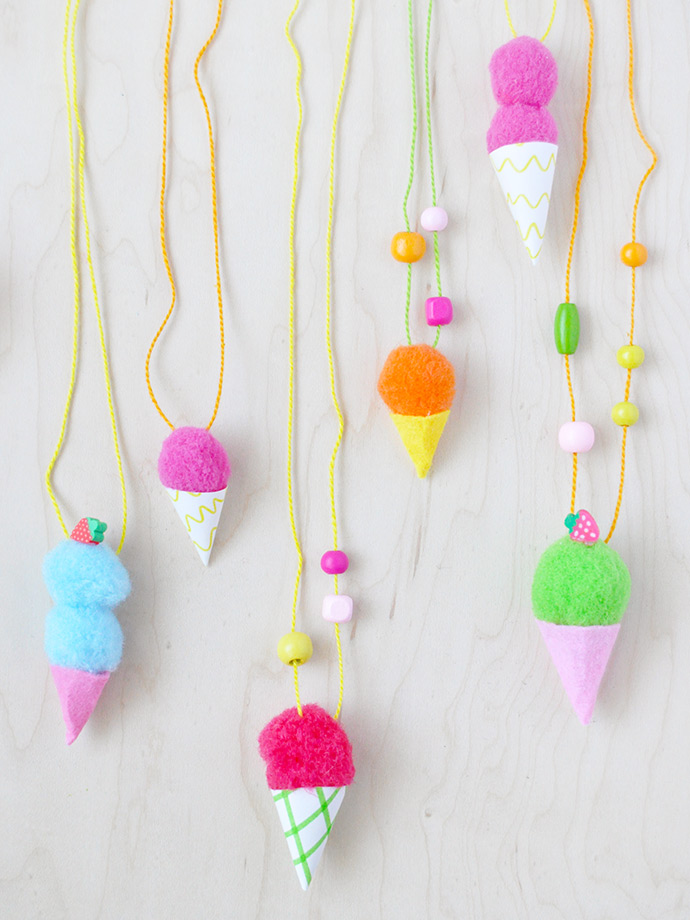 Ice Cream Necklace craft