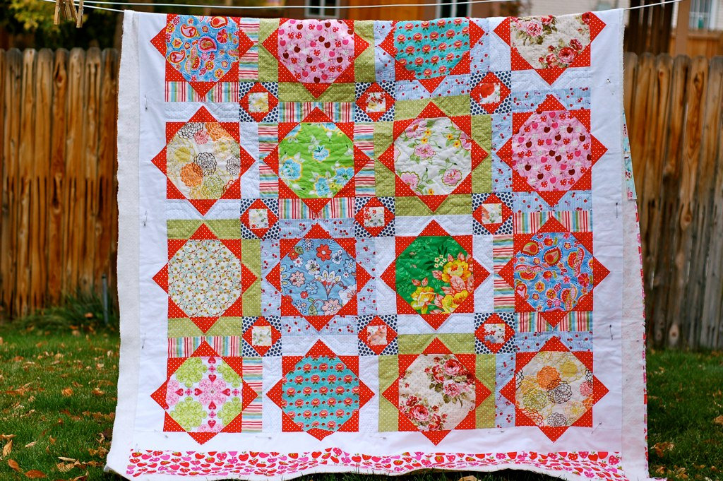 quilt by Nikki Schreiner of Pin, Cut, Sew Studio from the book, Material Obsession