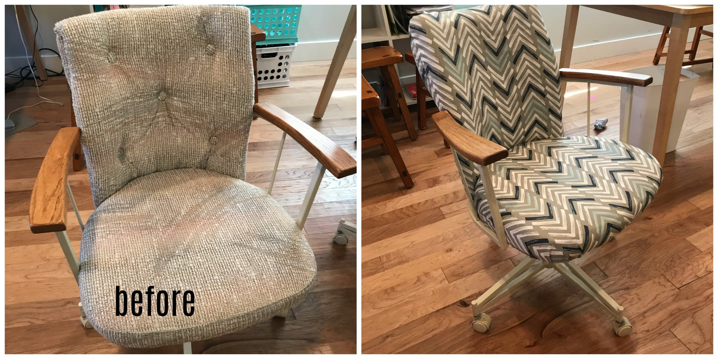 80's chair makeover