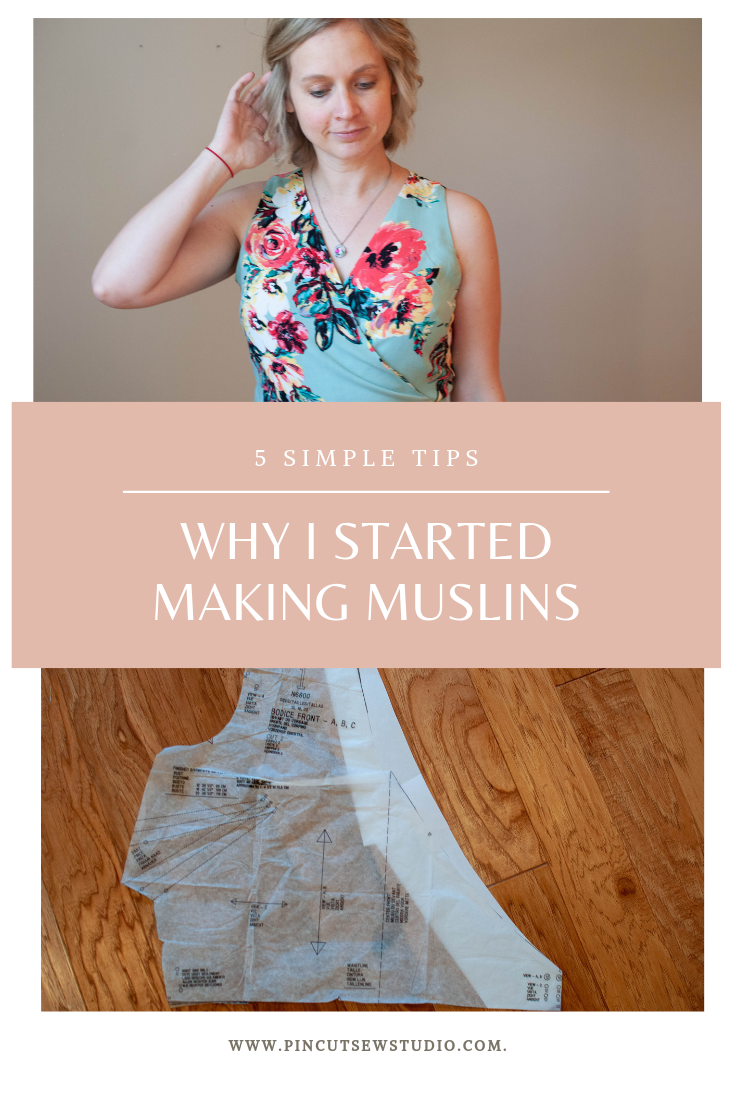 How to make a muslin for sewing patterns