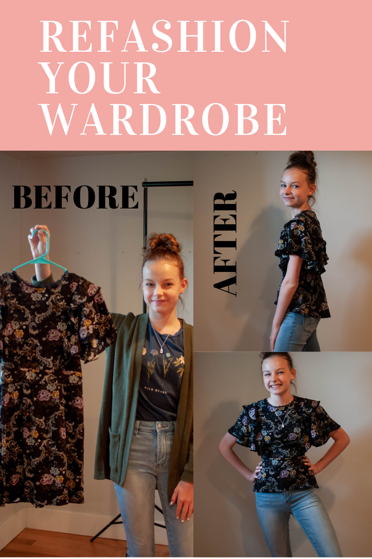 How to upcycle clothes for kids and teens.