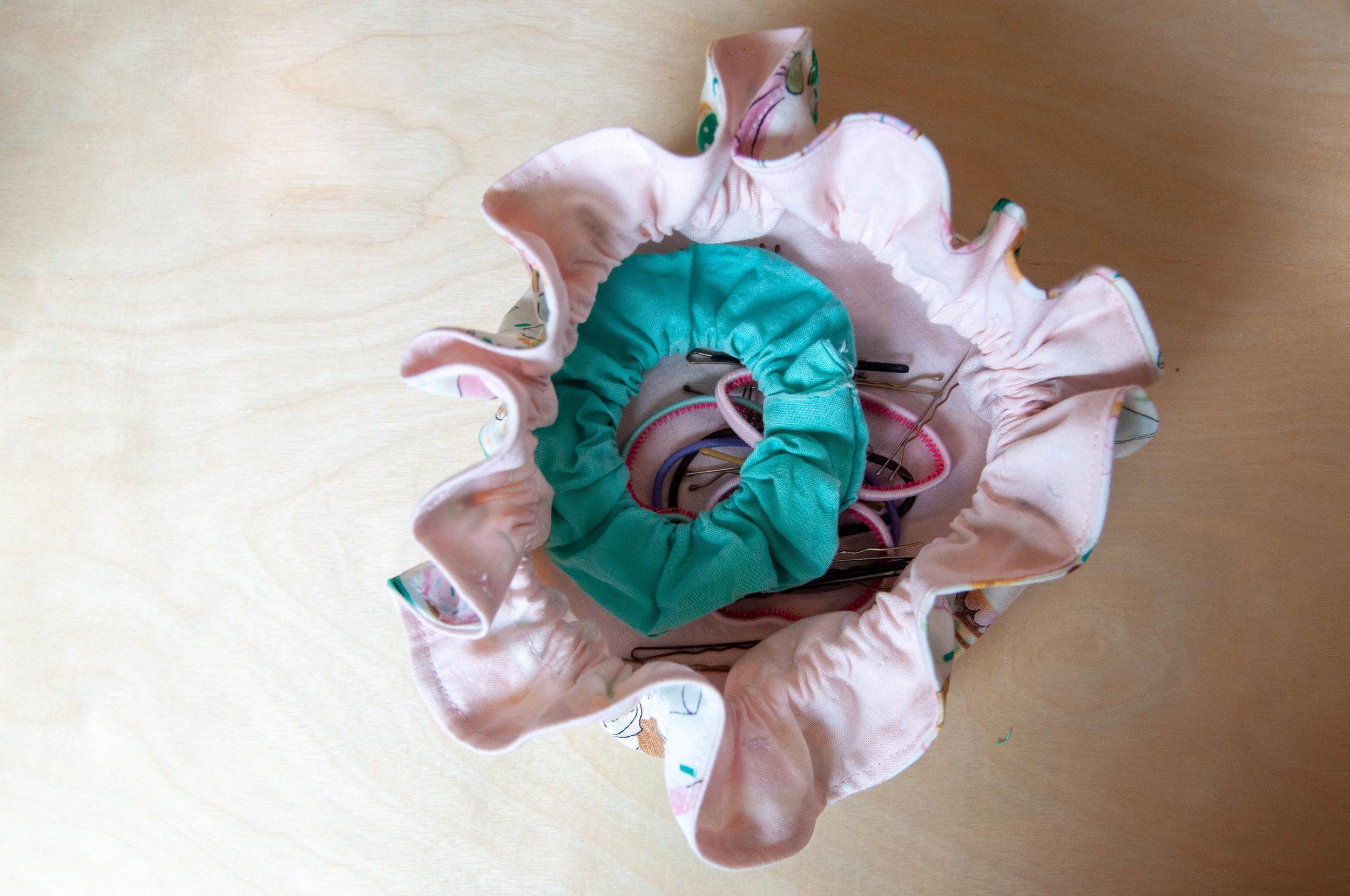 Drawstring bag sewing tutorial by Nikki at PIn, Cut, Sew Studio