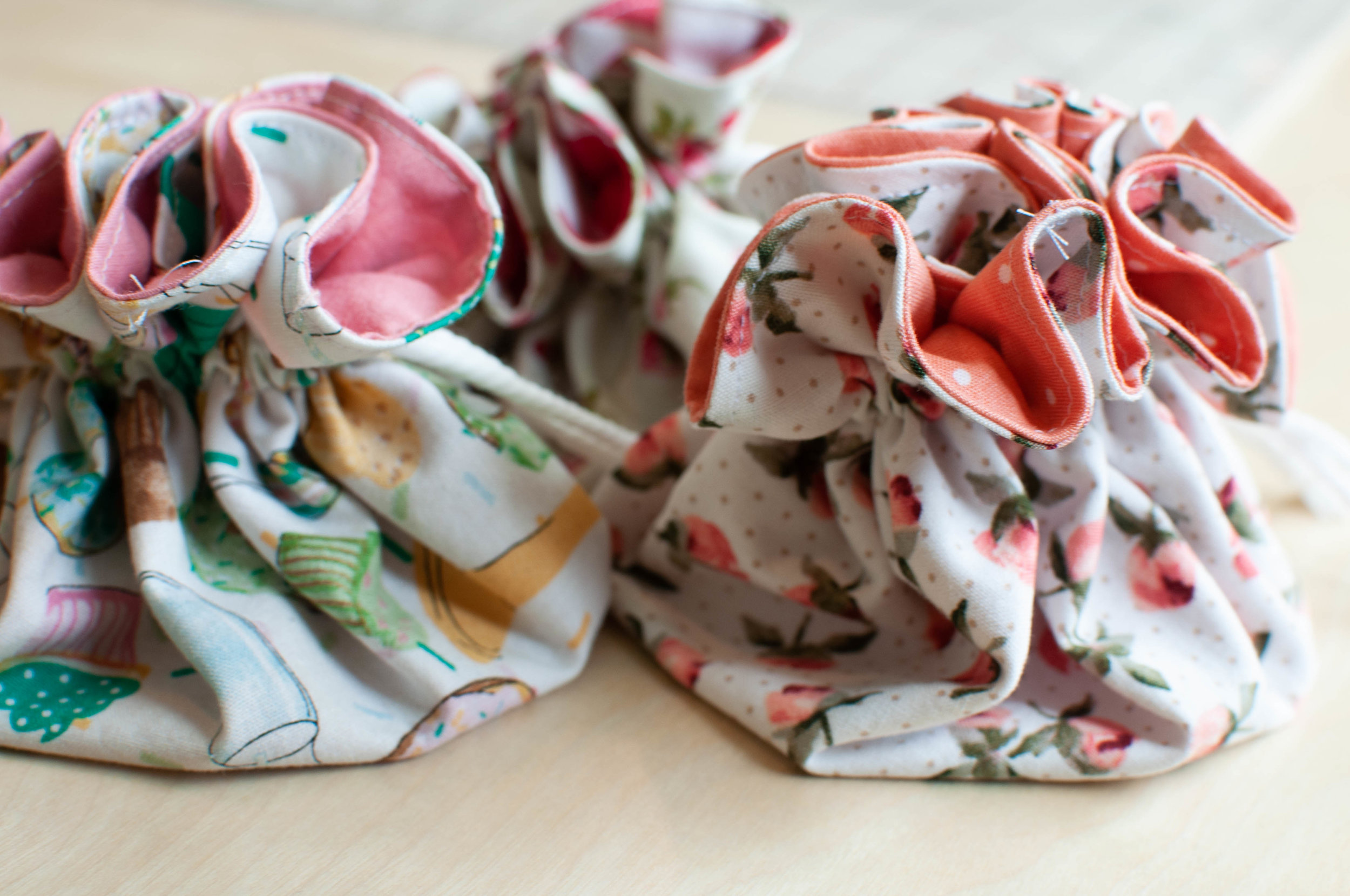 How to sew drawstring pouches, a sewing tutorial by Nikki at Pin, Cut, Sew Studio