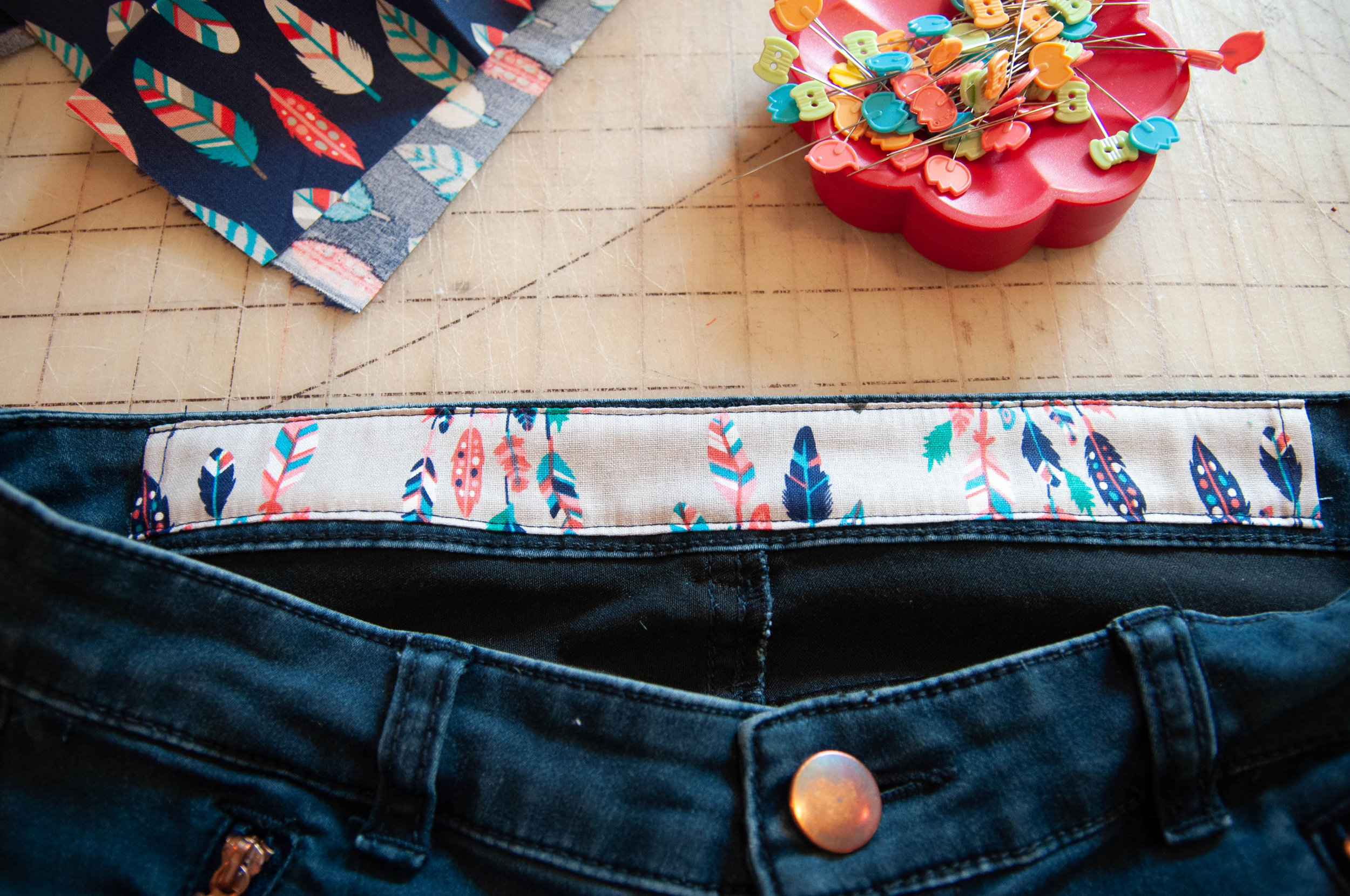 How How to alter the waistband of jeans