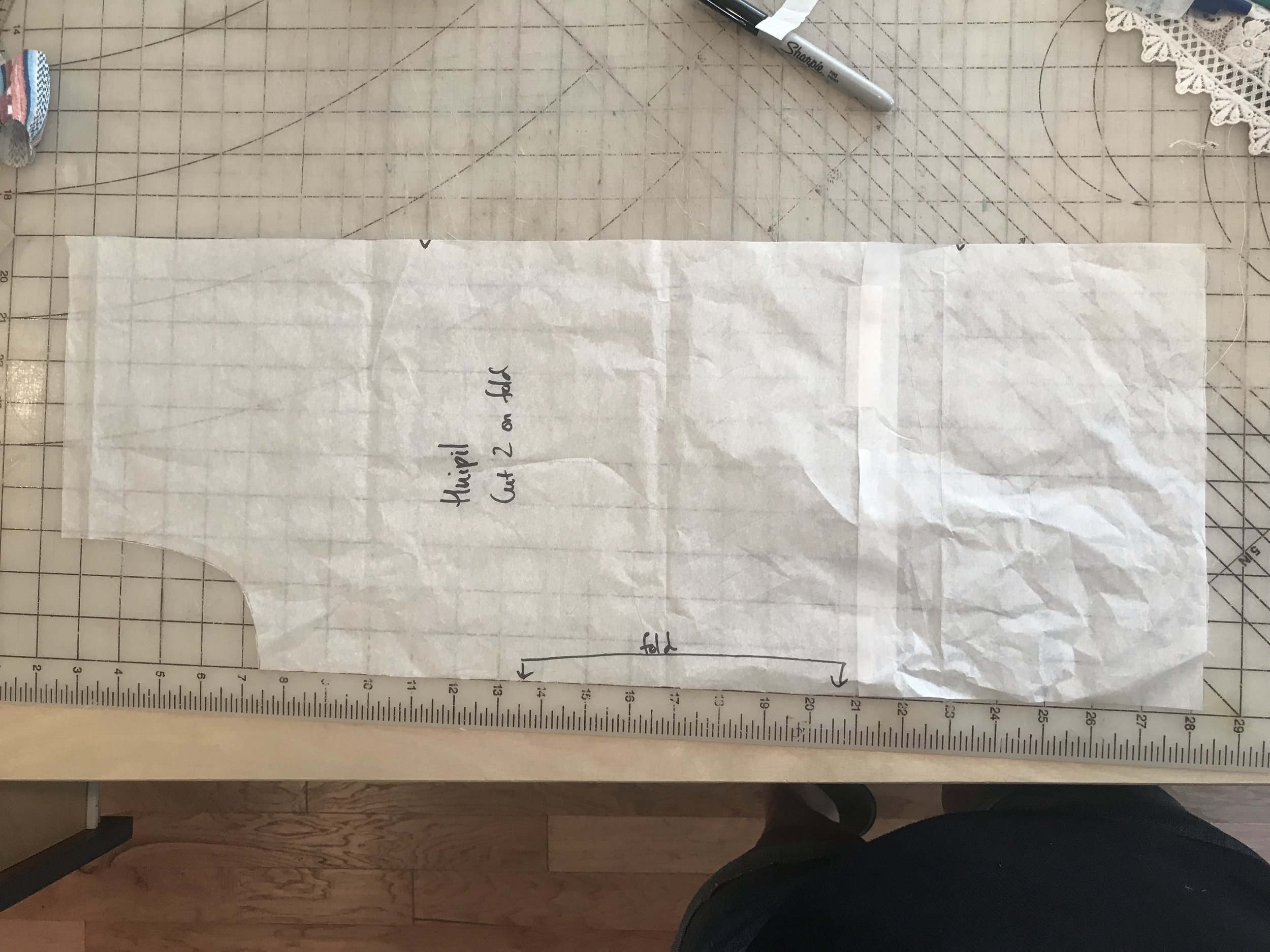 How to draft a rectangle top. So easy, anyone can do it!