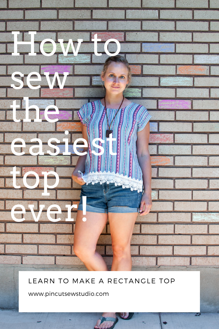How to draft and sew a rectangle top. So easy, anyone can do it! || PIn, Cut, Sew Studio