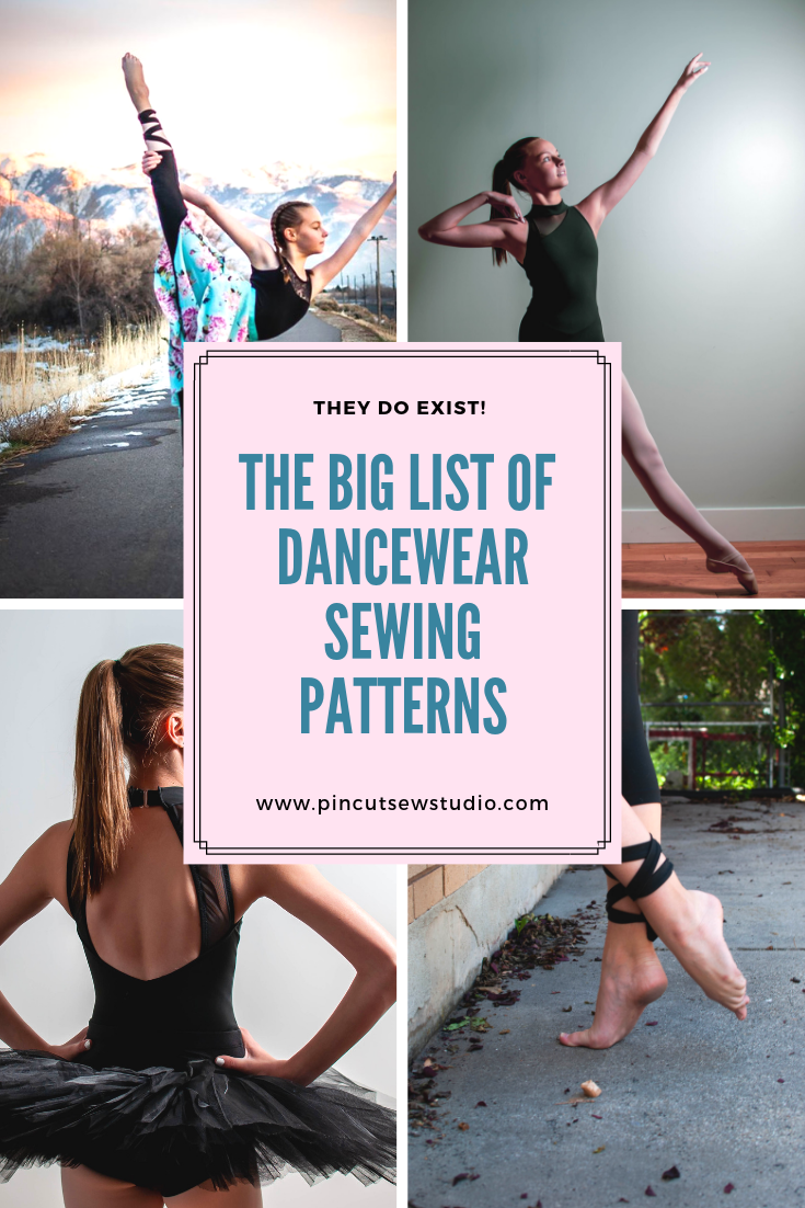 You can sew dancewear! Click over to see my big roundup of sewing patterns for leotards, skirts, leggings and even Irish dancing and character skirts. || Pin, Cut, Sew Studio