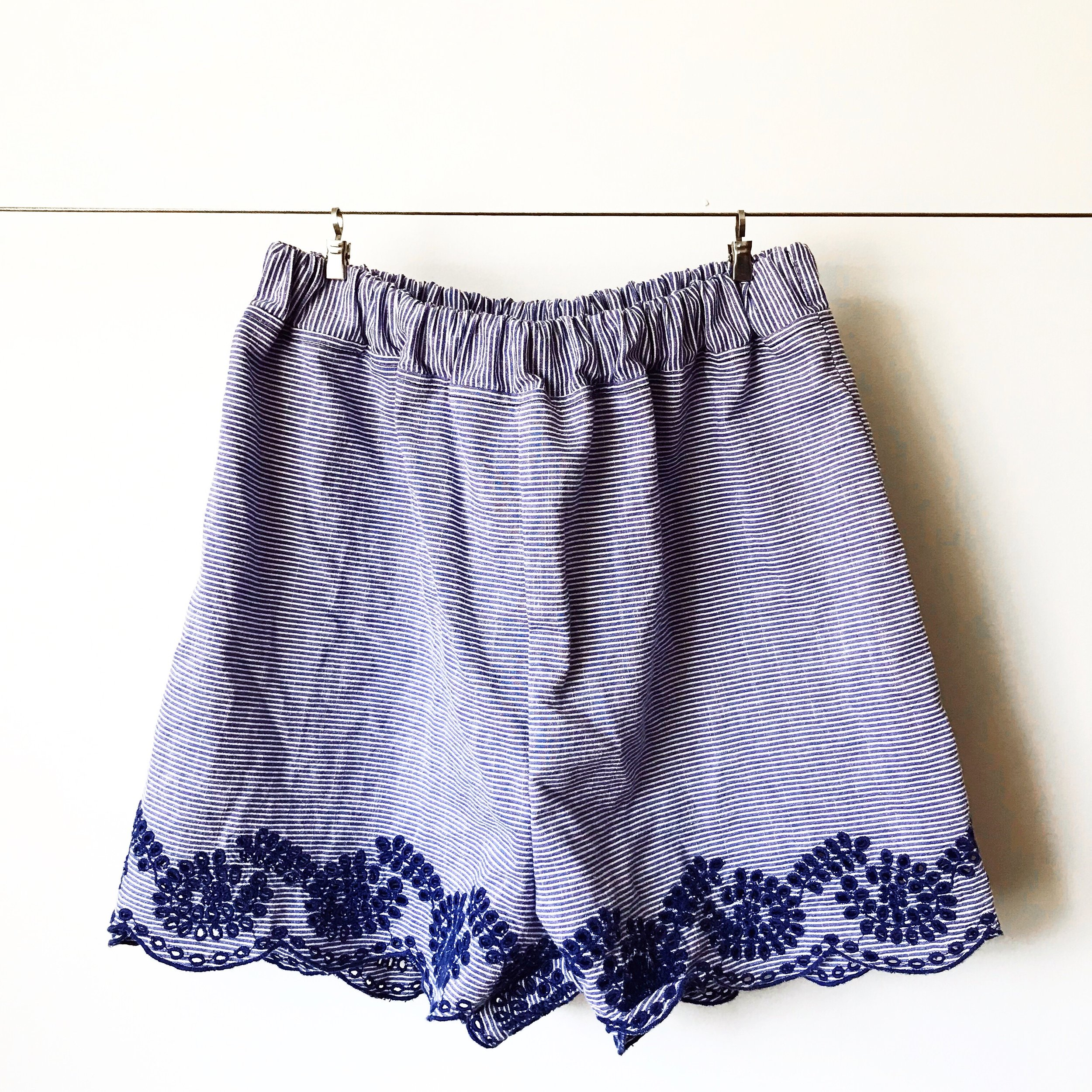 Sew Pajama Shorts with leftover fabrics!