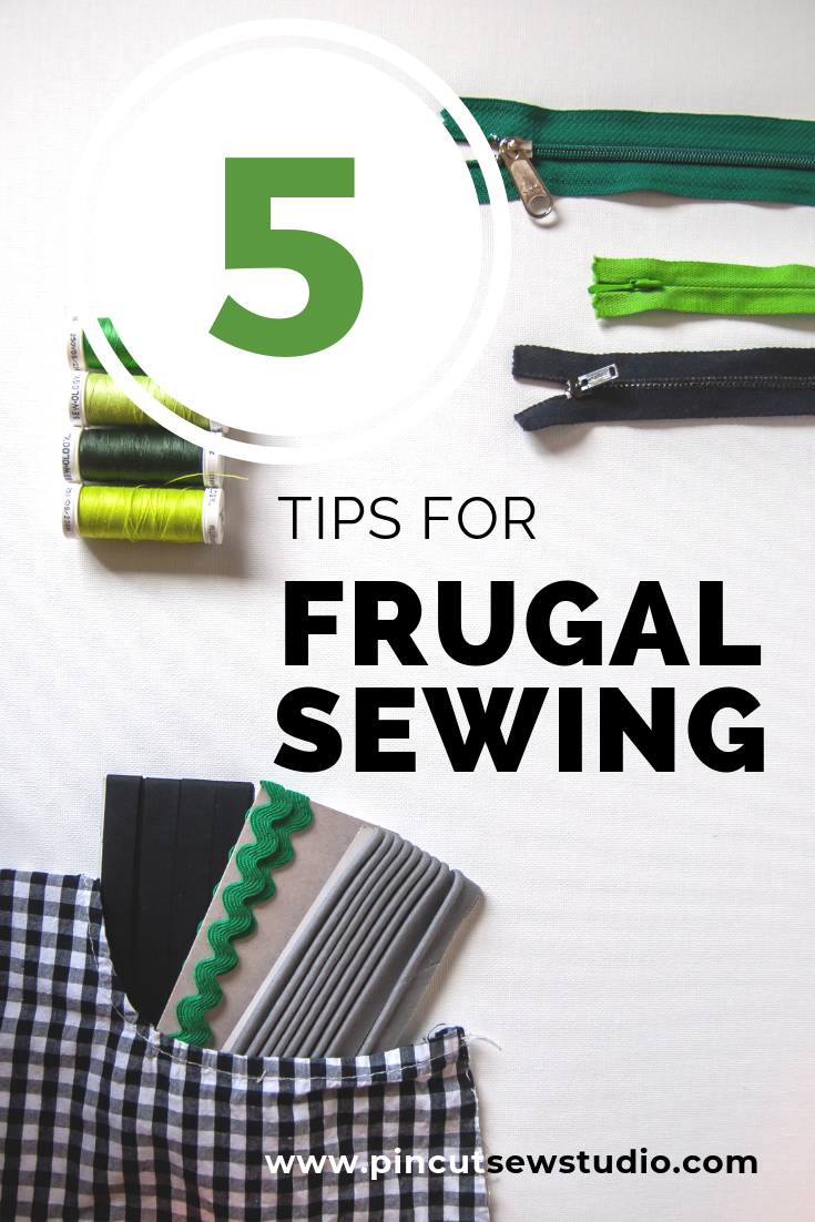 If you're sewing on a budget, I have tips and advice for you! Come learn how to keep yourself sewing in a more frugal way. || PIn, Cut, Sew Studio
