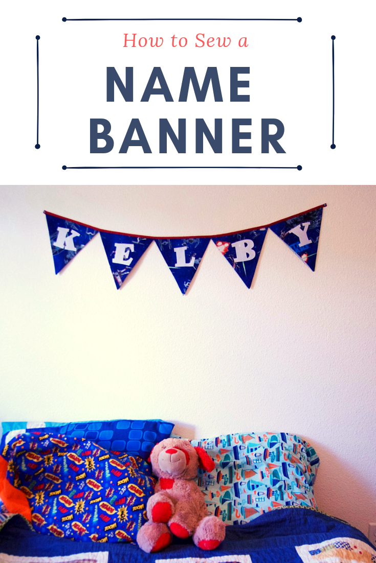 How to sew a name banner bunting! | Pin, Cut, Sew Studio