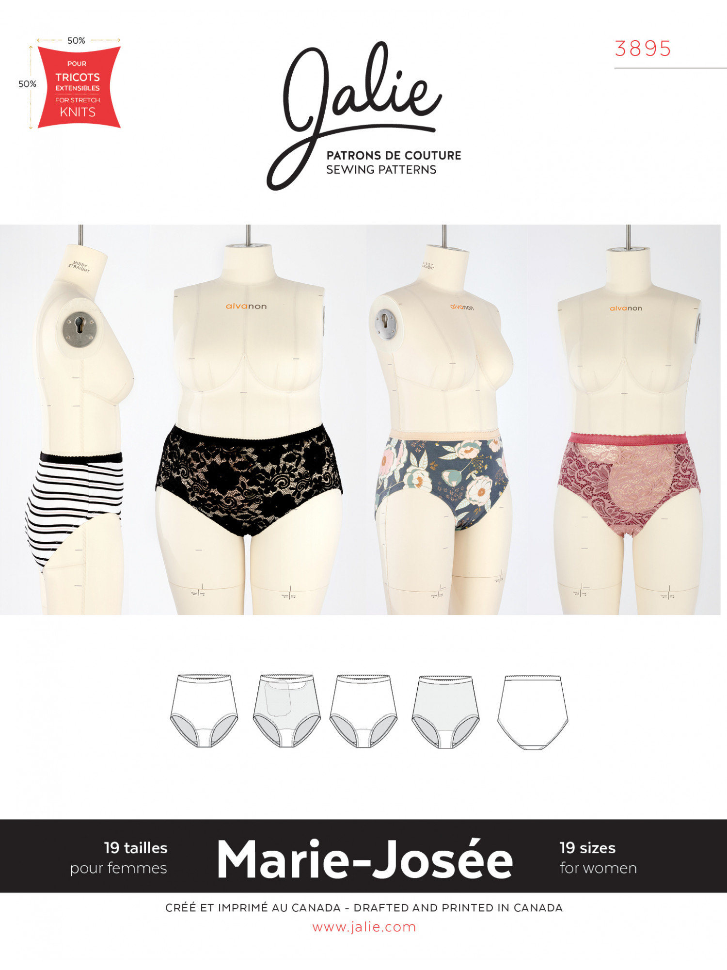 Jalie underwear pattern with ostomy option. Grab some knit scraps and sew up some underwear this weekend! || PIn Cut Sew Studio