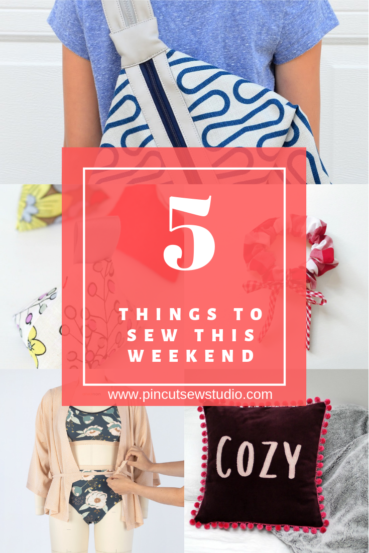 I'm back with five more amazing things to sew this weekend! Every other week, I pick the five best sewing tutorials I've spotted around the Internet recently and compile them here for you!  || PIn Cut Sew Studio #sewingtutorials #weekendsewing #thingstosew #teensewing