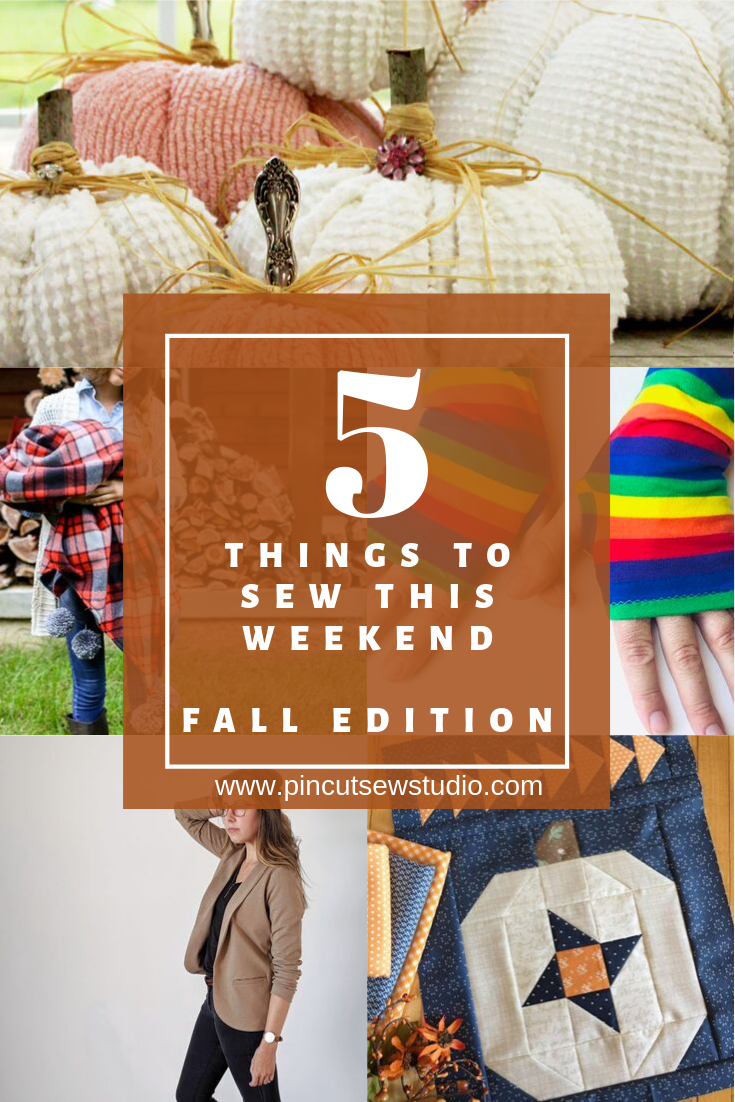 Five thing to sew for Fall that you can sew up this weekend! Click over for my top favorite sewing tutorial and patterns for Fall. || PIn Cut Sew Studio #sewing #fall #diy #pumkincrafts