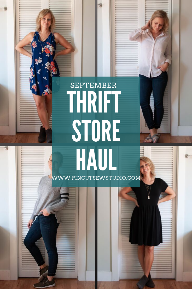 What I found at my thrift store in September! || Pin Cut Sew Studio #thrifting #diyfashion
