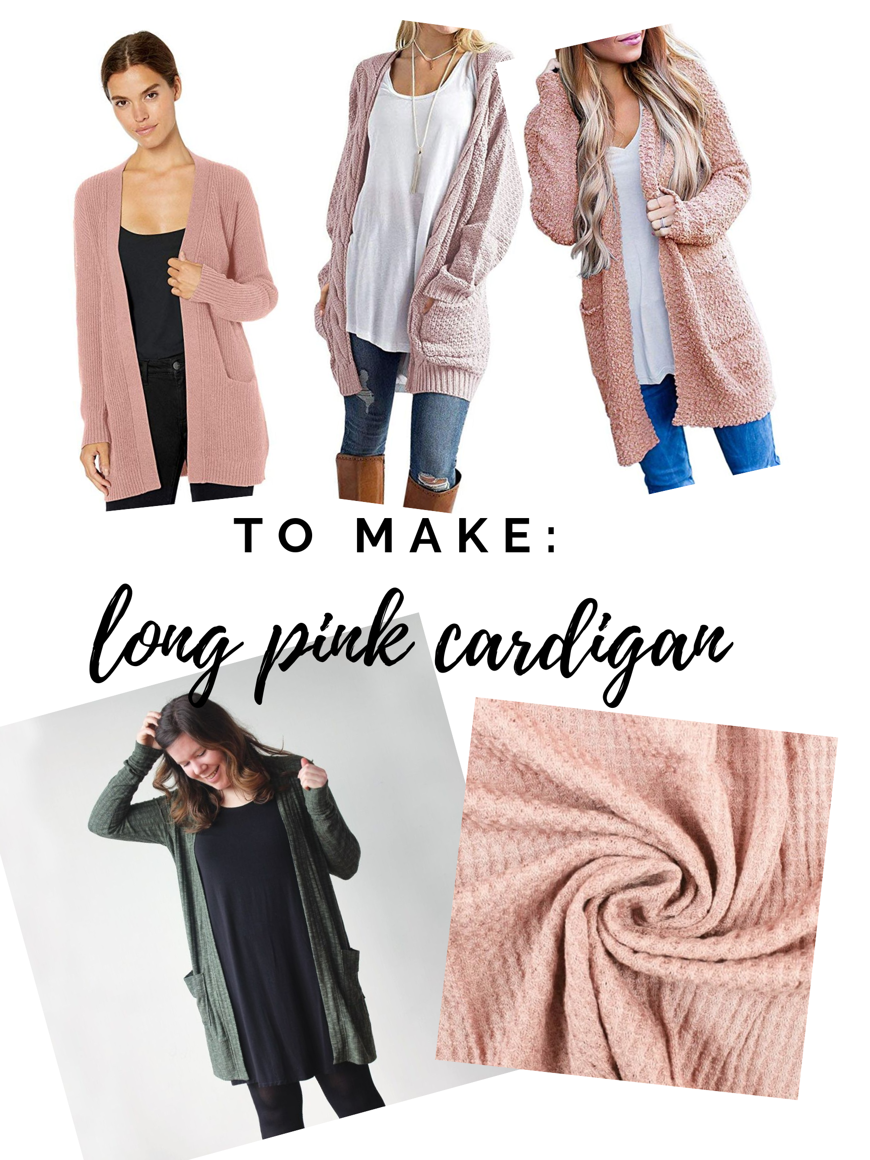 Fall sewing plans! Long blush pink cardigan using the Blackwood Cardigan pattern. || PIn Cut Sew Studio #fallsewing #cardigan #diyfashion