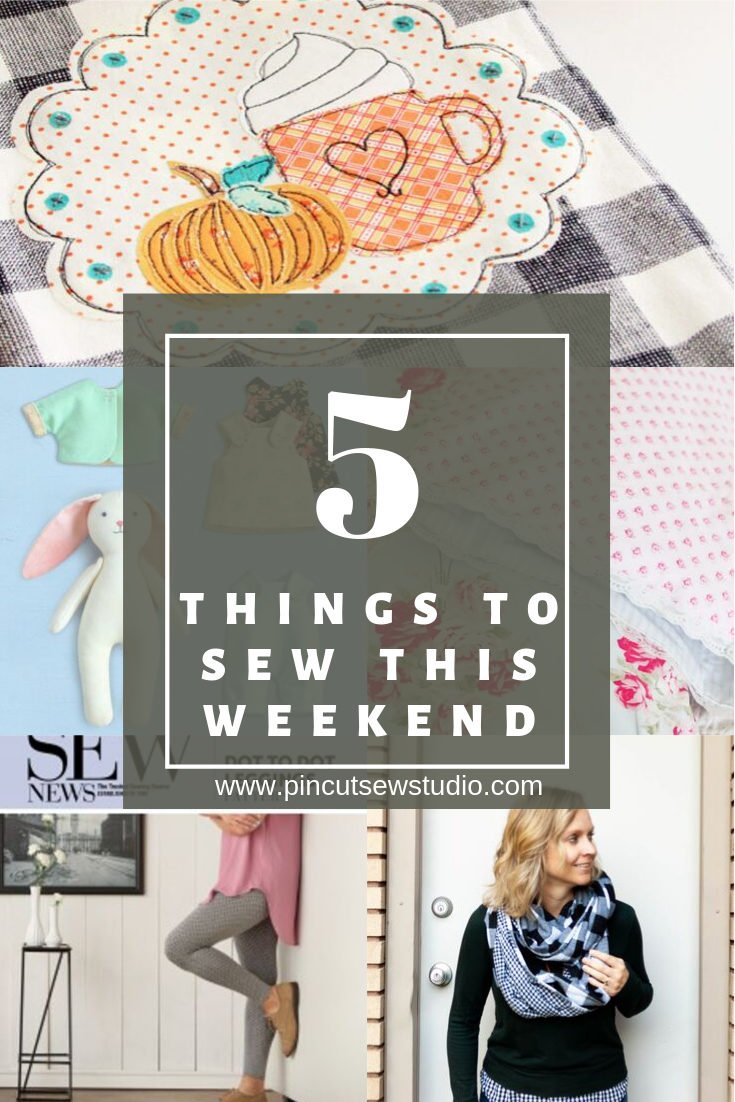 The five best sewing tutorials you can sew up in a weekend! || Pin Cut Sew Studio #sewingpatterns #freesewing #sewingtutorials #easysewing