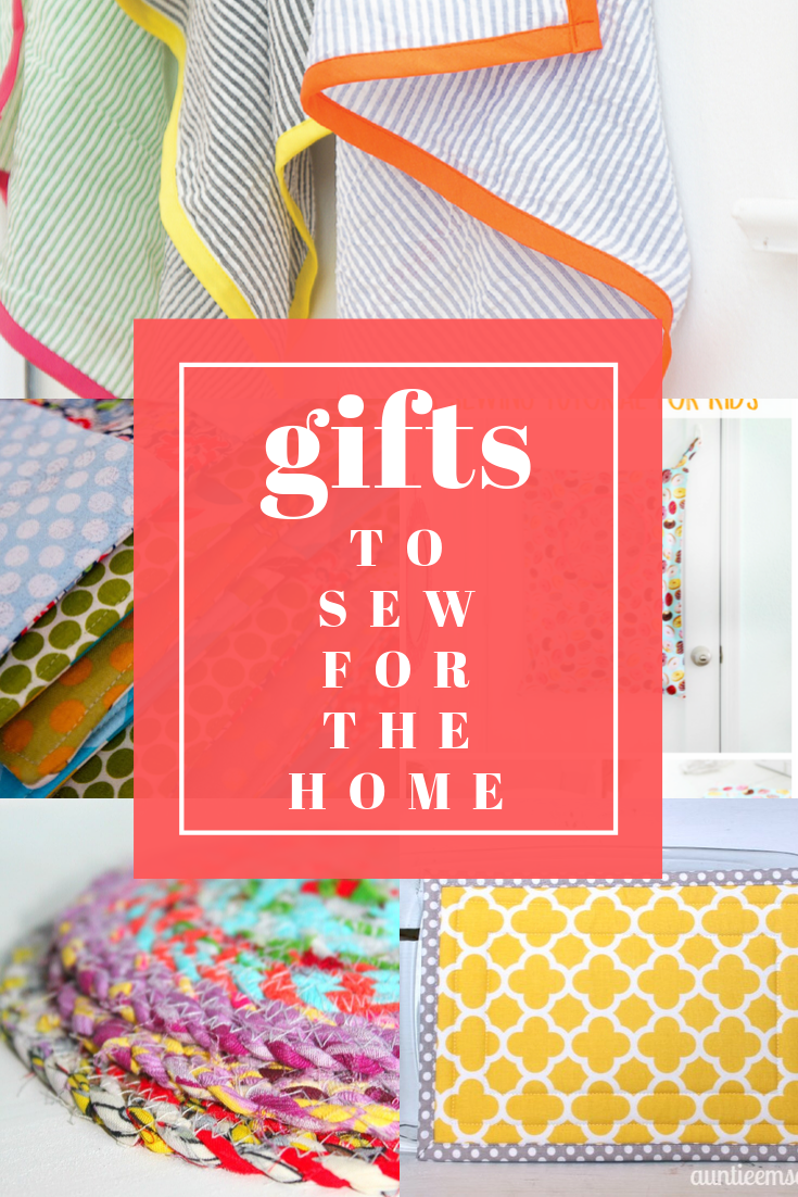 Gifts to sew for the home! It's so rewarding to sew useful items for the homes of others and see your creations being used in their homes many years later. Come see the easy sewing projects I'm thinking about sewing as gifts this Christmas! || Pin Cut Sew Studio #giftstosew #easysewing #sewingforthehome