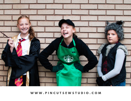 DIY handmade costume sewing ideas, with patterns and how-tos. Come see (almost) all the costumes I've ever made for my kids, from the very beginning! || PIn Cut Sew Studio #costumes #Halloween #cosplay #sewingcostumes #easysewing #costumestomake #diycostumes