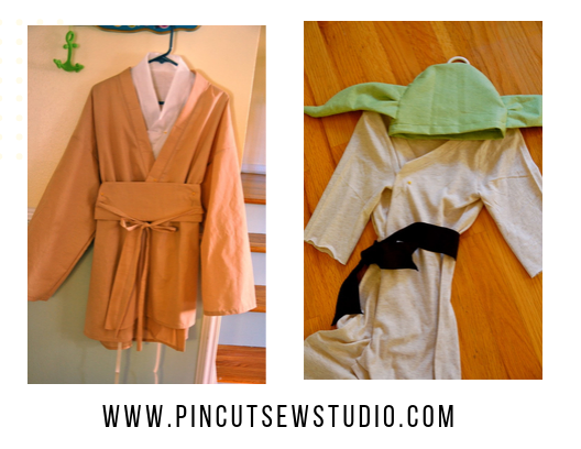 Father and Son Star Wars Costumes. DIY handmade costume sewing ideas, with patterns and how-tos. Come see (almost) all the costumes I've ever made for my kids, from the very beginning! || PIn Cut Sew Studio #costumes #Halloween #cosplay #sewingcostumes #easysewing #costumestomake #diycostumes