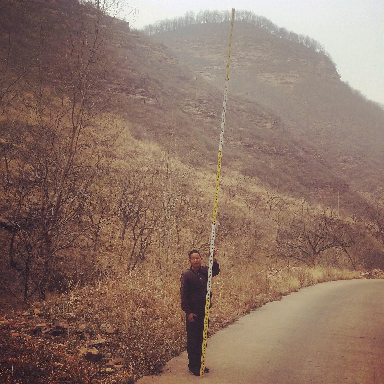 A rural road surveyor, Hebei Province.