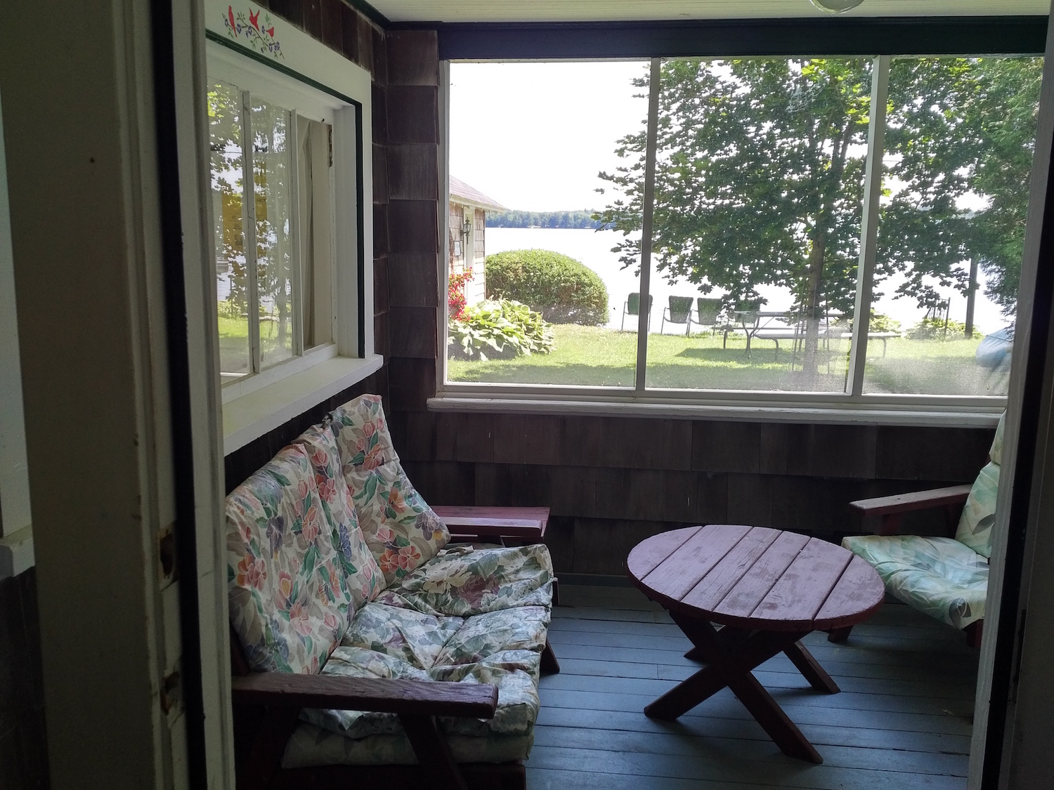 Screened-In Porch at the Lakeside Camp