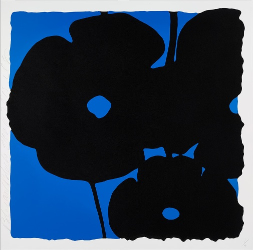 Reversal Poppies, Blue and Black