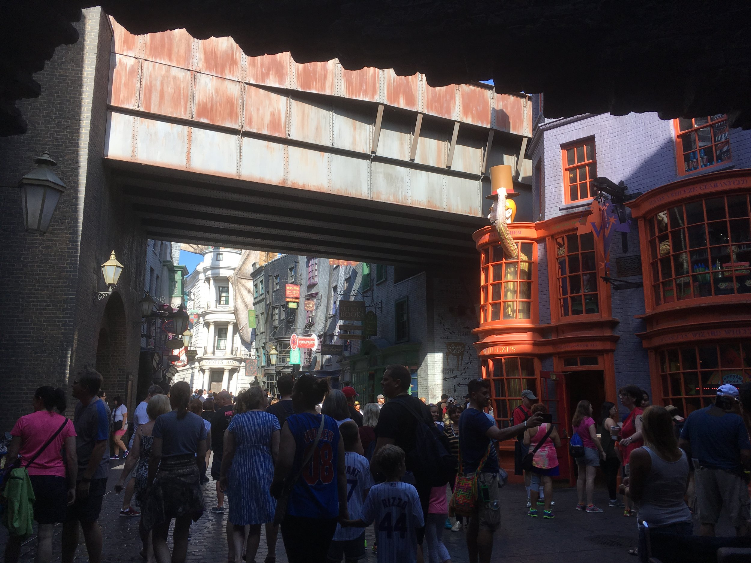 Begin the pictures of Diagon Alley!  I actually don't have that many, but the few I have really show the incredible level of attention to detail that was paid when creating this amazing area.