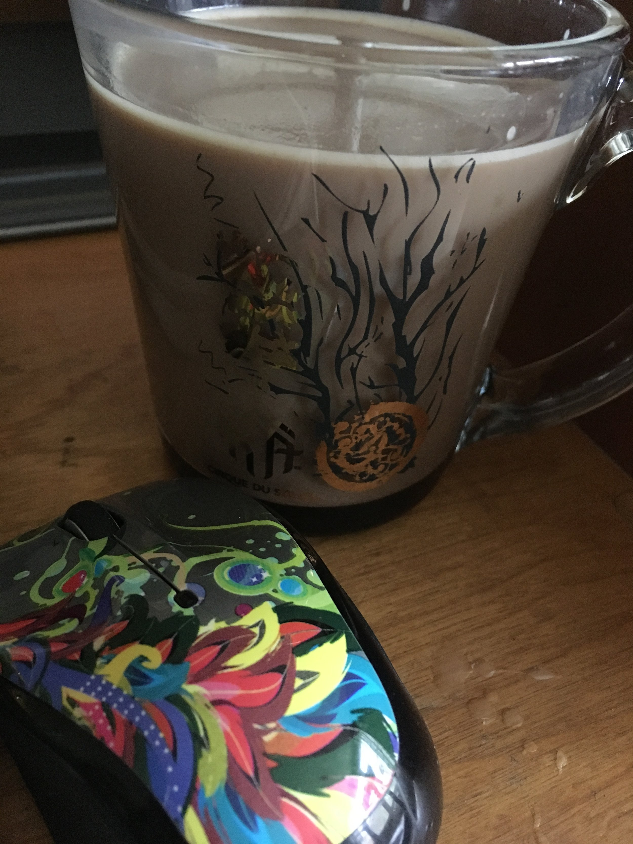 Currently drinking: a gingered dark chocolate mocha because something dark and complicated and spicy really goes well with this book. You can find my recipe for gingered dark chocolate syrup in a recent post  here .