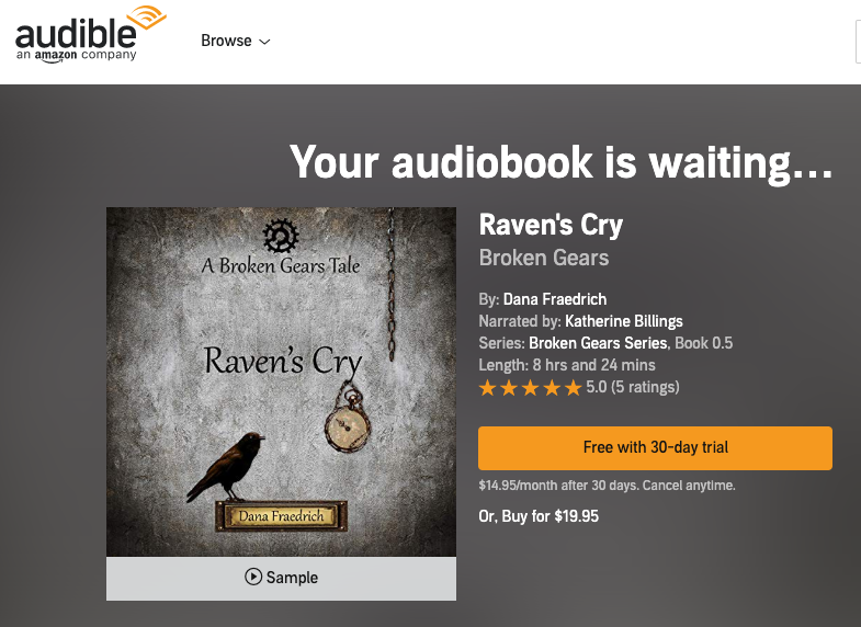 Wanna buy Raven's Cry on audiobook? Click    here    for US,    here    for UK,    here    for France, and    here    for Germany.