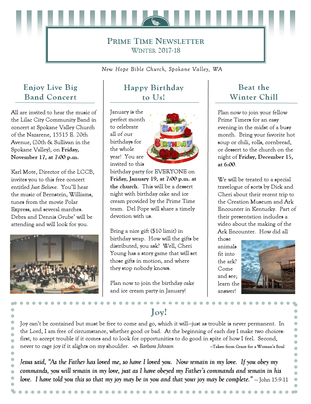Winter 2017/18 Newsletter