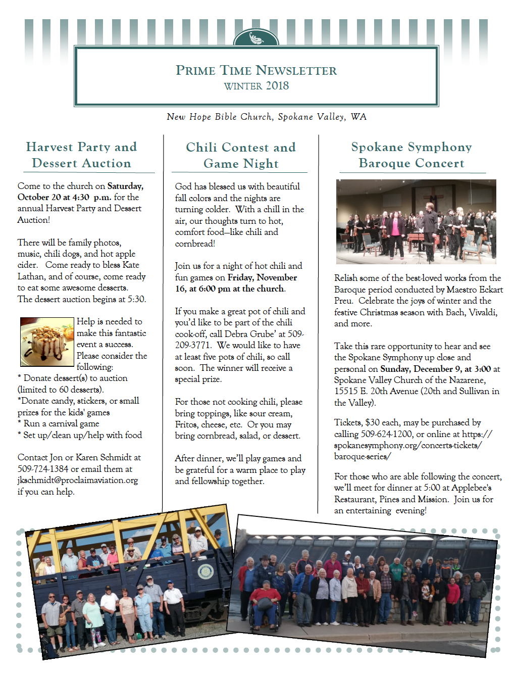 Winter 2018/19 Newsletter