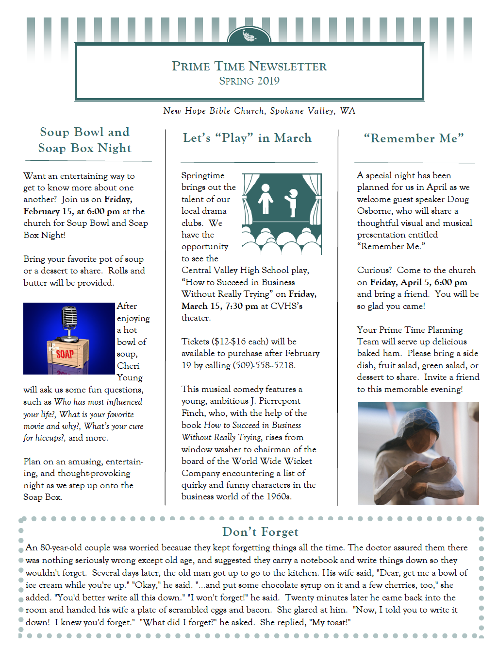 Spring 2019 Newsletter (click to view full version)