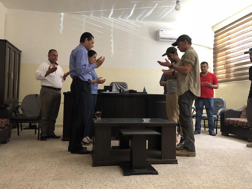 Praying with Raqqa City Council members