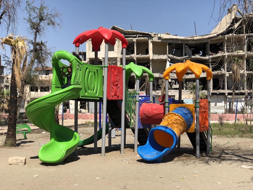 New playground city center Raqqa