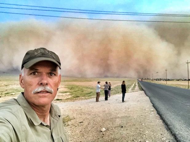 Sand Storm Selfie