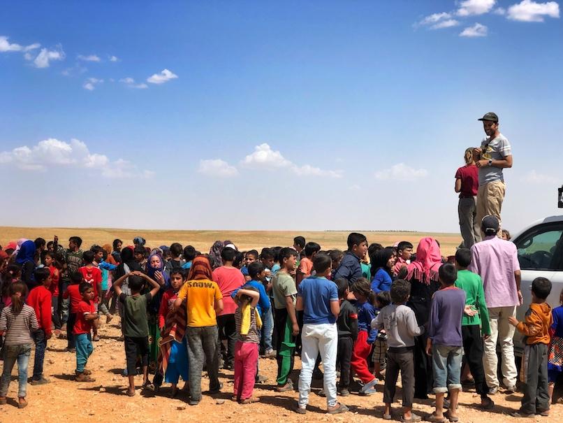 Good Life Club at IDP camp in Manbij
