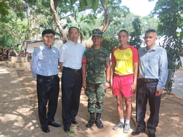 Visit with Thai Marines