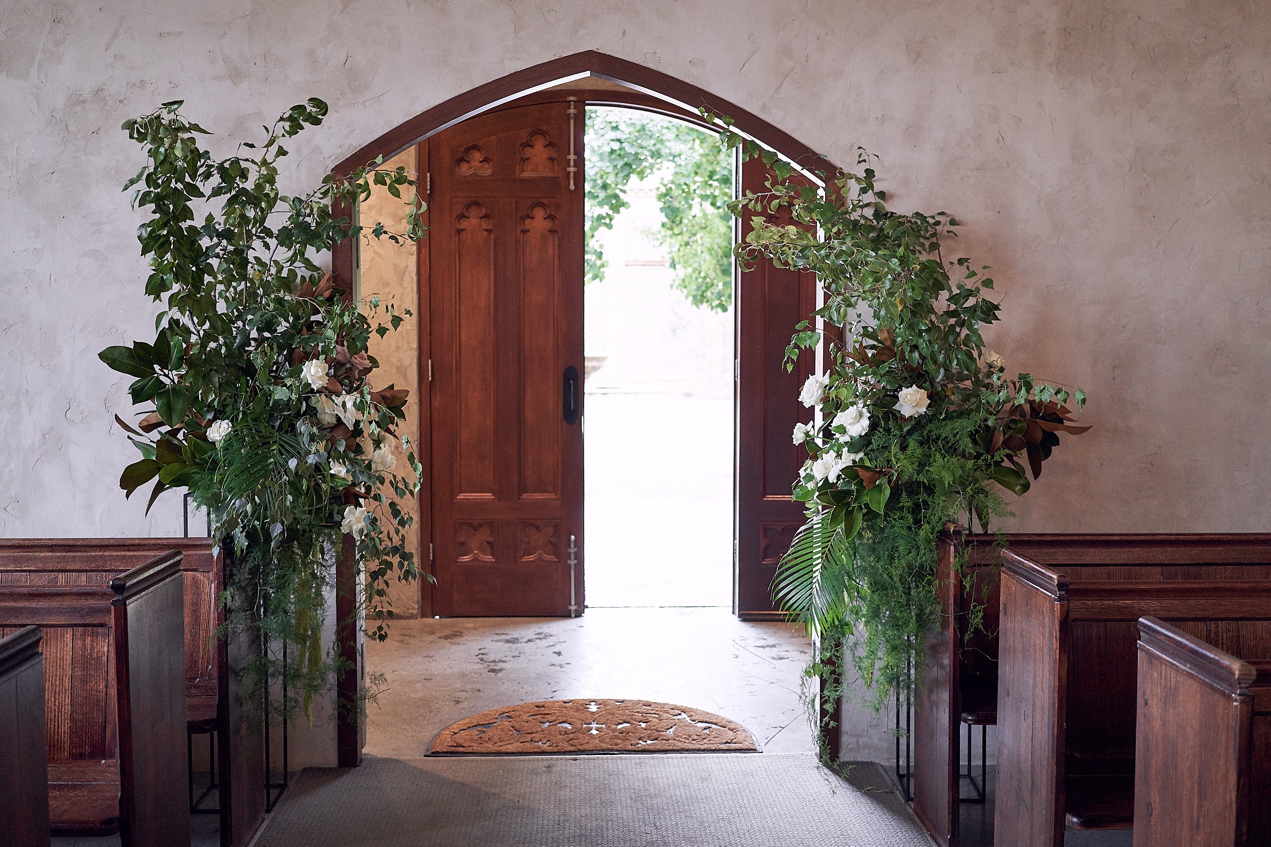 Modern Romantic Wedding Flowers Stones