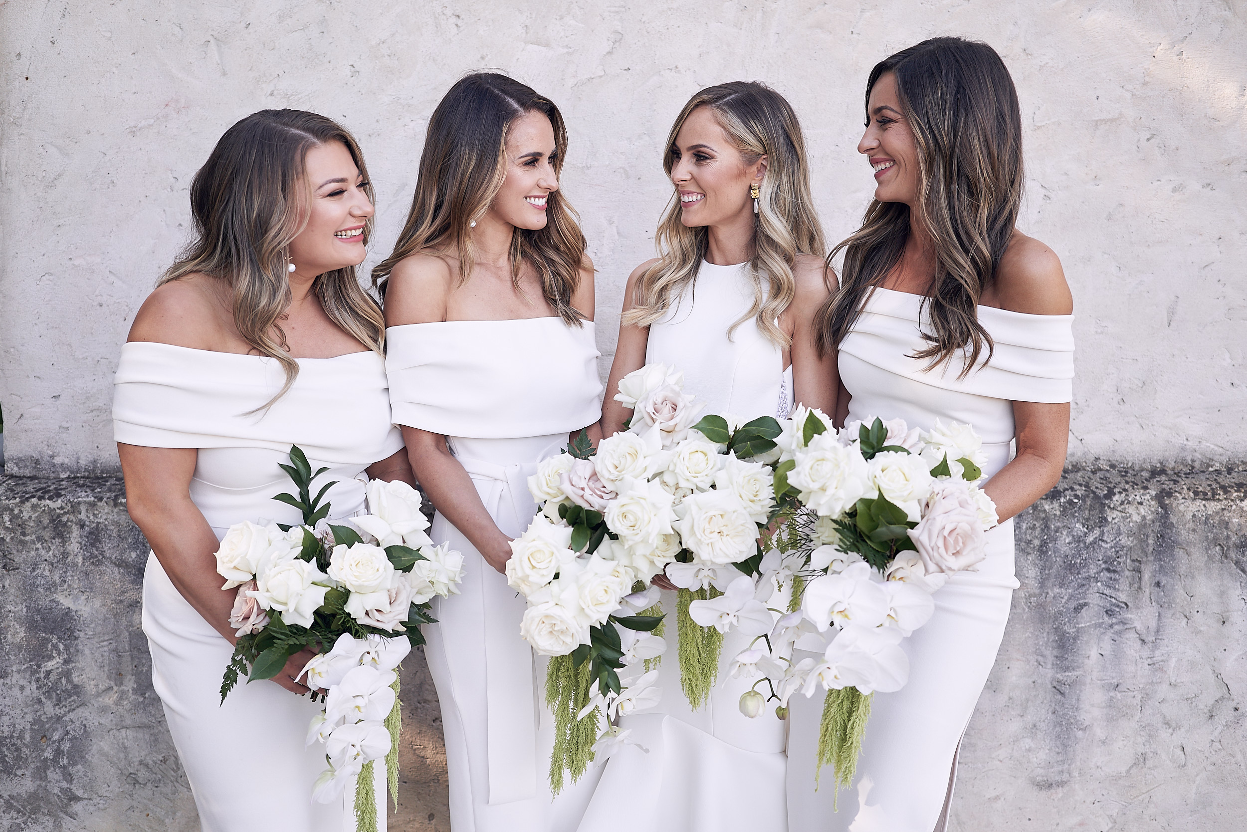 Modern Romantic Bridal Party Wedding Flowers