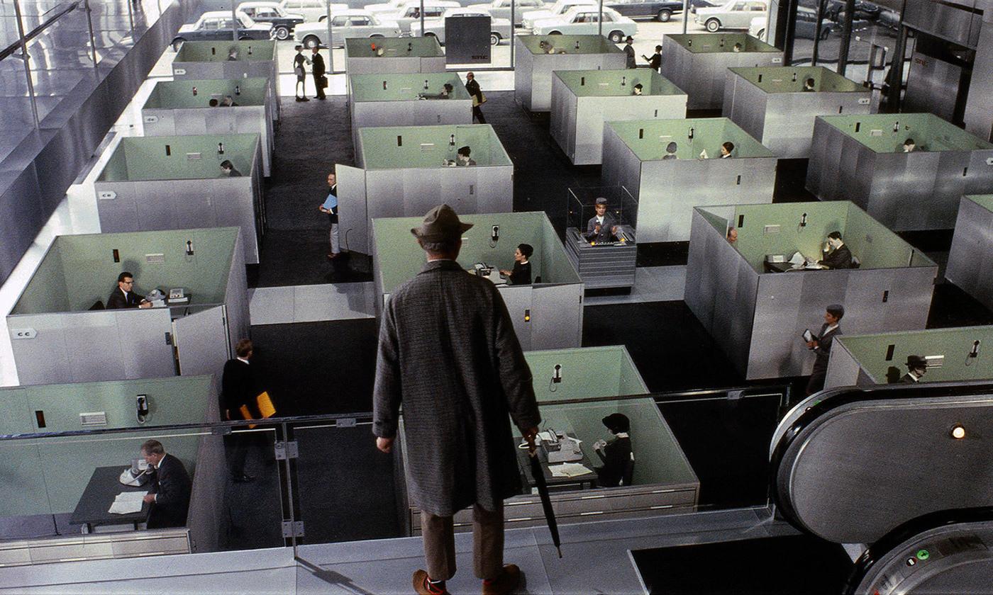 From Jacques Tati's  Playtime (1967). Image courtesy Les Films de Mon Oncle – Specta Films CEPEC