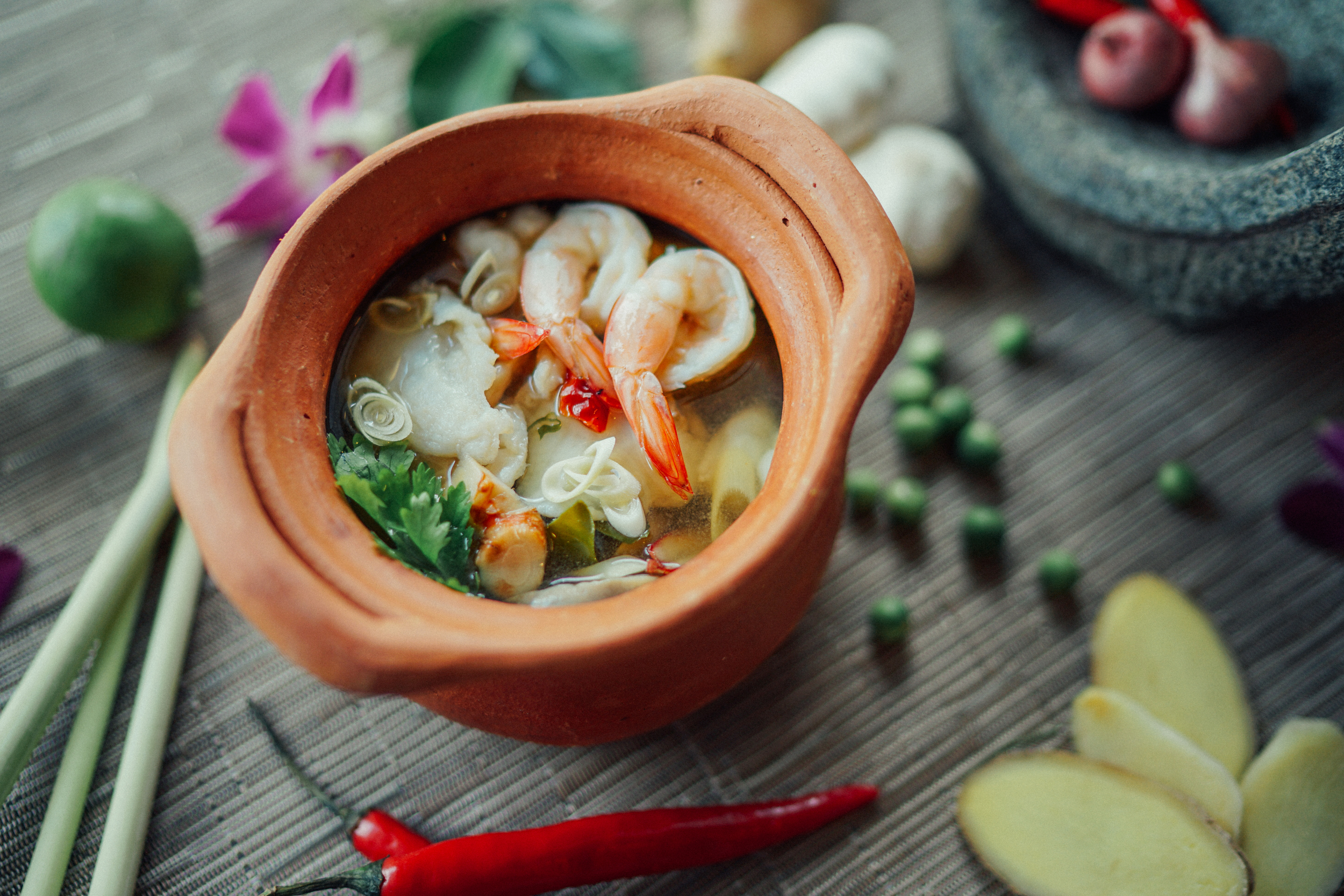Sawadee Thai Cuisine Tom yum soup.jpg