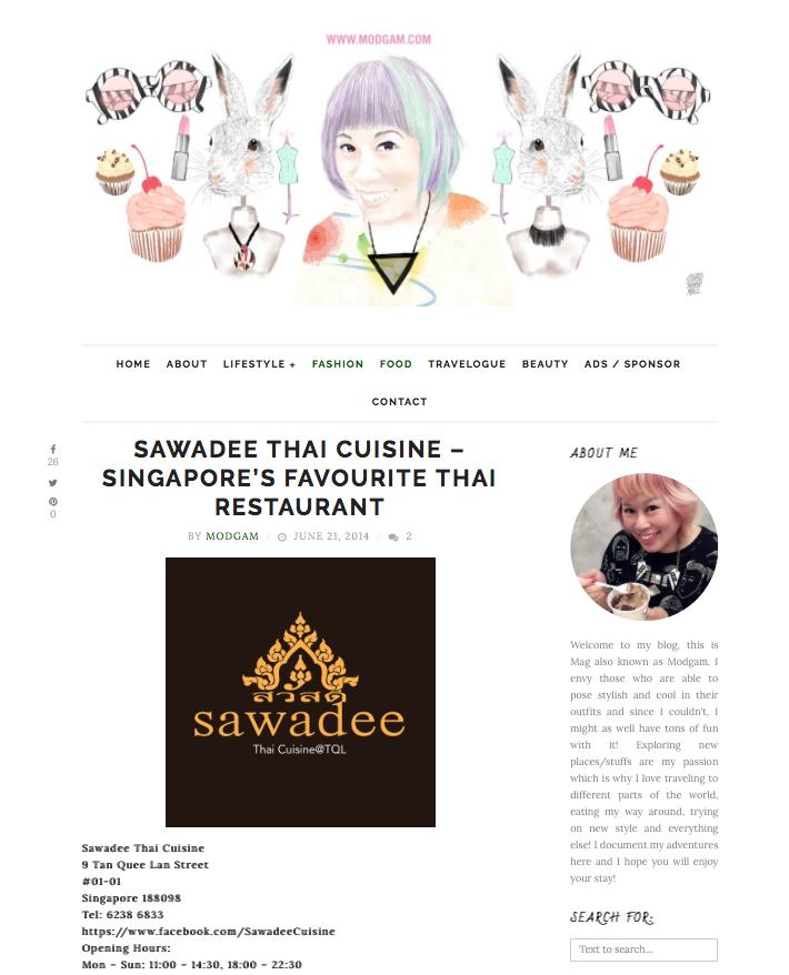 Modgam, Singapore's Favourite Thai Restaurant, June 2014