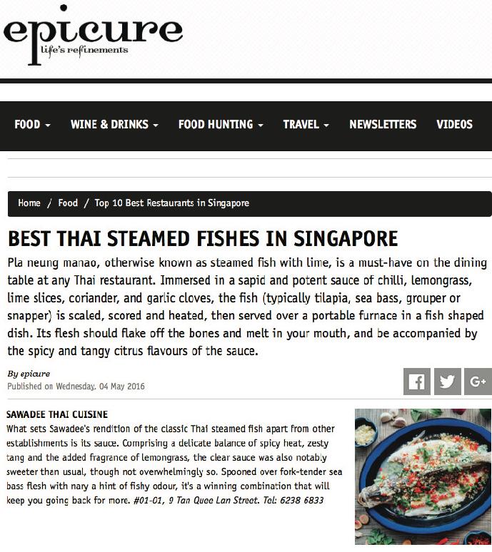 Epicure Magazine, 04 May 2016