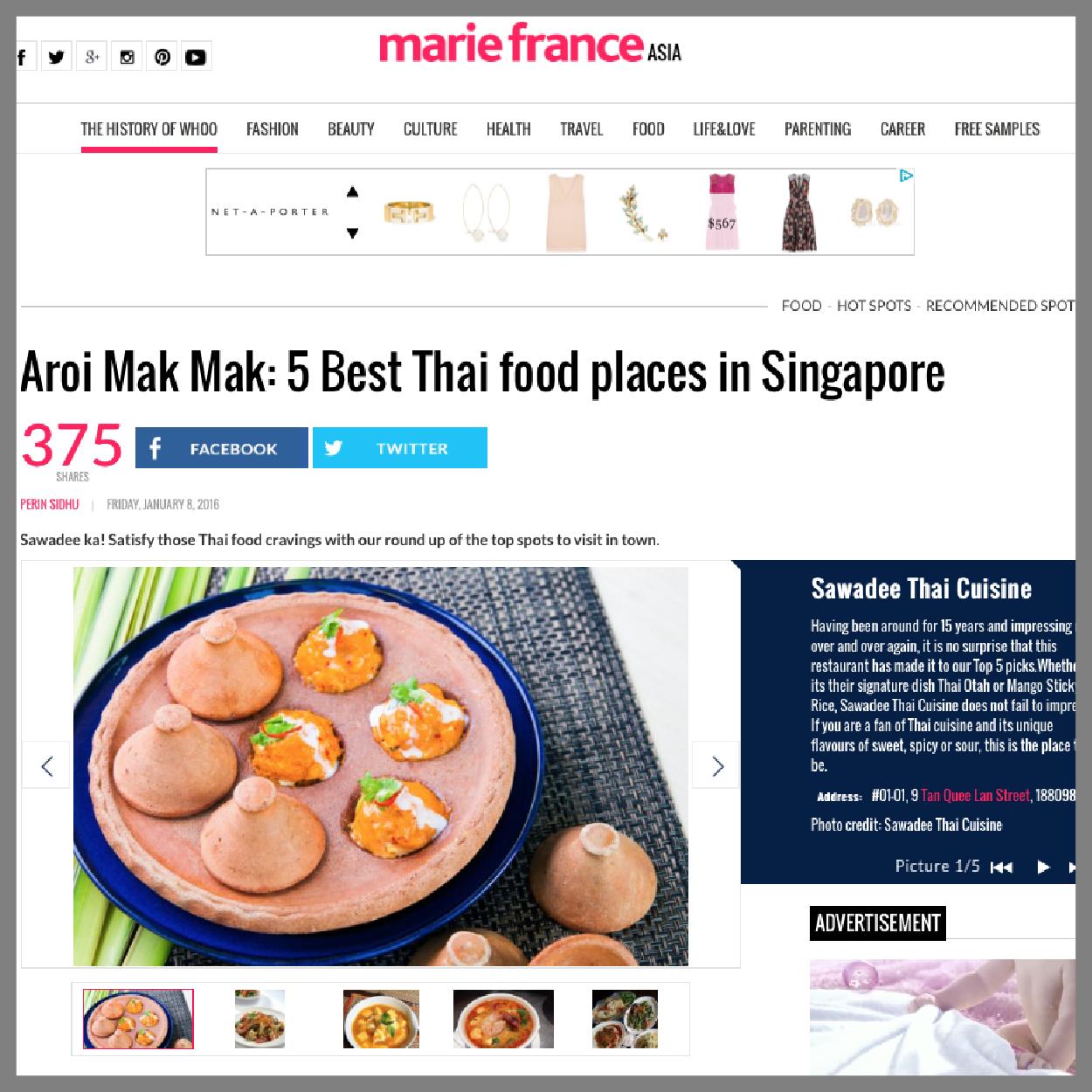 Marie France Asia, 8 Jan 2016
