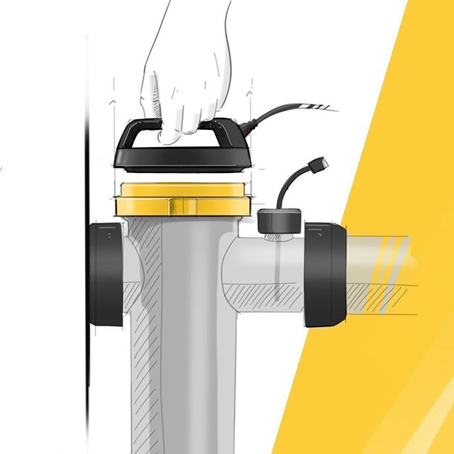 Concept sketching for the new @daveywaterproducts Nipper chlorinator.⠀ ⠀ #industrialdesign #design #designers #sketch #productdesign #drawing #products #industrial  #illustration #photoshop #digitalsketch #sketchbook #drawing #instapic #dailysketch #designboom #designlife #instalike #instasketch #picoftheday #designinspiration #creative #like #follow