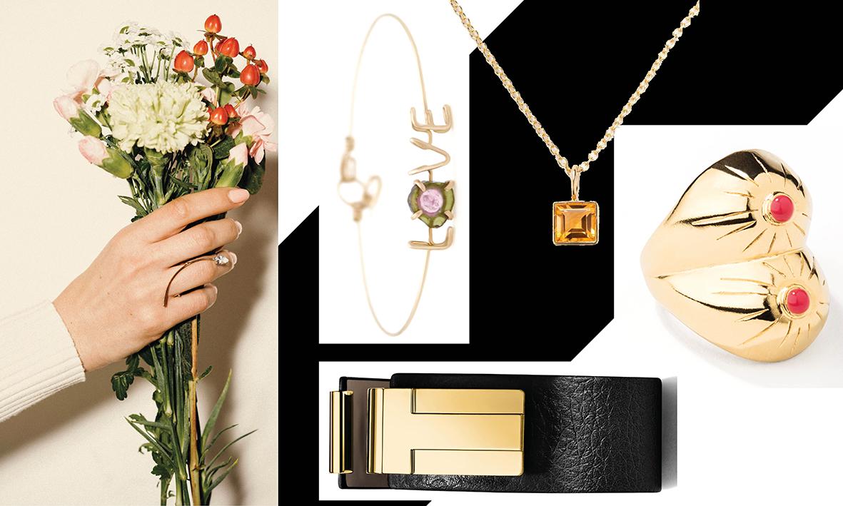 Collection Blossom Topic, Bracelet Atelier Paulin, Pendentifs Poiray, Bague fantaisie Aurélie Bidermann