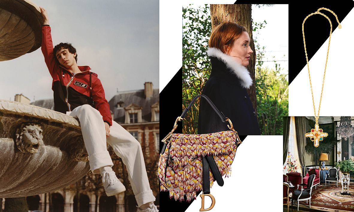 Collaboration Ami KWay collection hiver Bompoint  Audrey Marnay Sac Dior Saddle